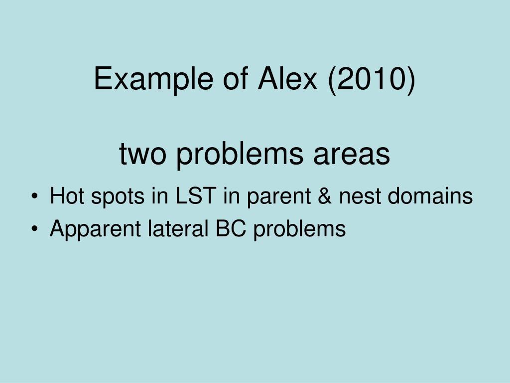 Example of Alex (2010)