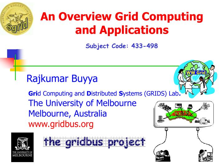 an overview grid computing and applications n.