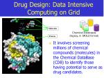 drug design data intensive computing on grid