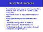 future grid scenarios
