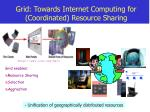 grid towards internet computing for coordinated resource sharing
