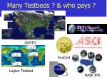 many testbeds who pays
