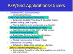p2p grid applications drivers