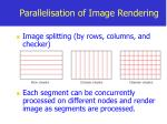 parallelisation of image rendering