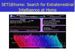seti@home search for extraterrestrial intelligence at home
