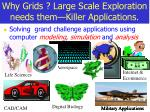 why grids large scale exploration needs them killer applications