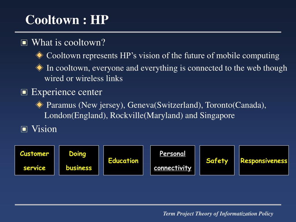 What is cooltown?