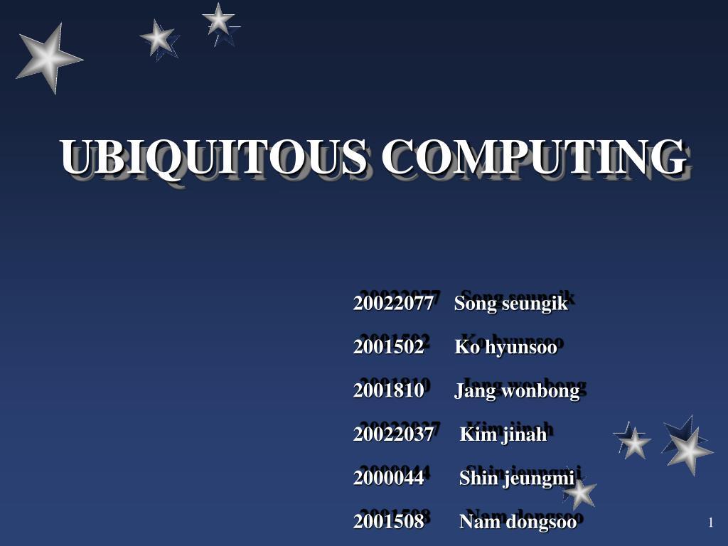 ubiquitous computing l.
