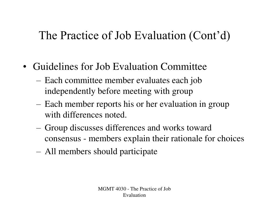 PPT - The Practice of Job Evaluation PowerPoint Presentation