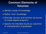 common elements of volumes