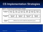 cs implementation strategies