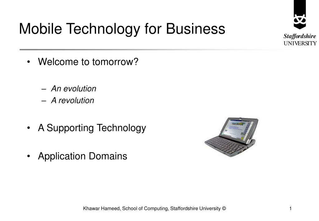 mobile technology for business l.