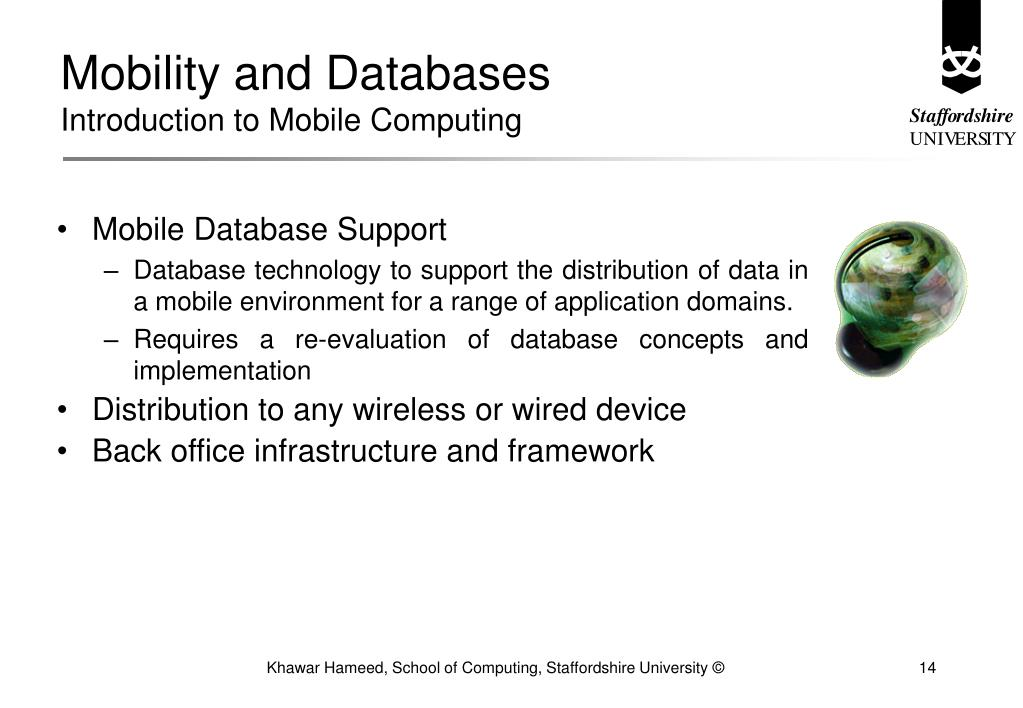 Mobility and Databases