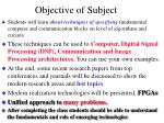 objective of subject10