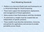 paas modeling standards