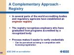 a complementary approach registry