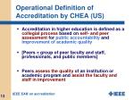 operational definition of accreditation by chea us