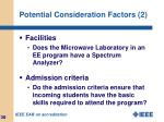 potential consideration factors 2