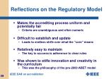 reflections on the regulatory model