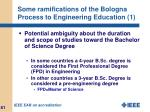 some ramifications of the bologna process to engineering education 1