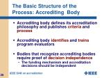 the basic structure of the process accrediting body