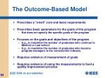 the outcome based model