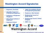 washington accord signatories