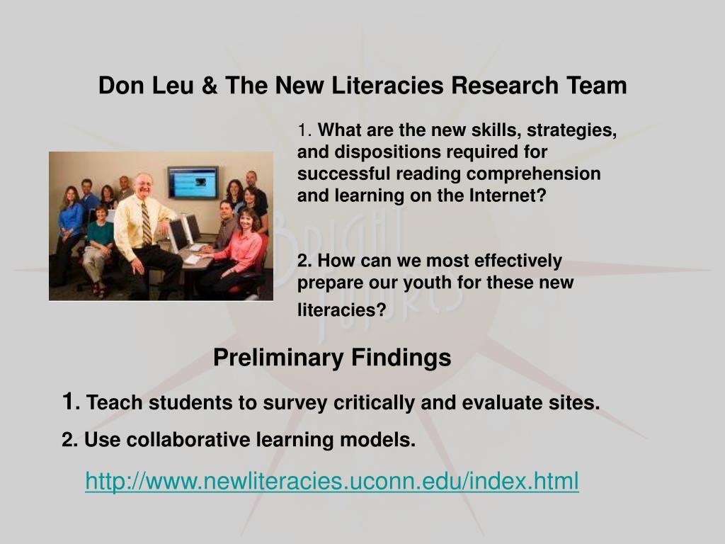 Don Leu & The New Literacies Research Team