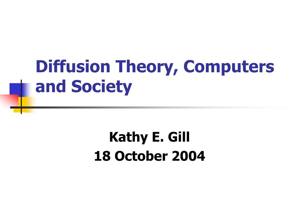 diffusion theory computers and society l.