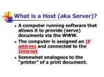 what is a host aka server