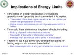 implications of energy limits