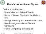 moore s law vs known physics