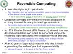 reversible computing