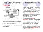 long life unmanned redundant systems voyager