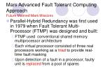 mars advanced fault tolerant computing approach future manned mars missions18
