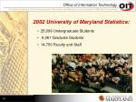 2002 university of maryland statistics