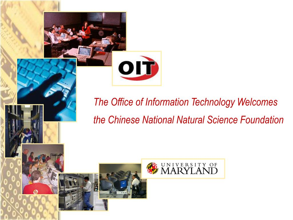 the office of information technology welcomes the chinese national natural science foundation l.