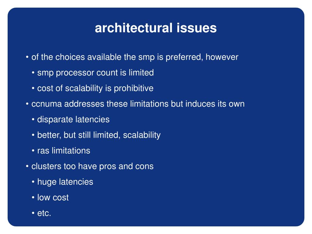 architectural issues