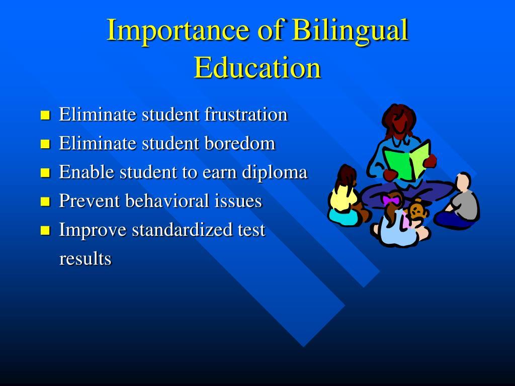 importance bilingual education essay