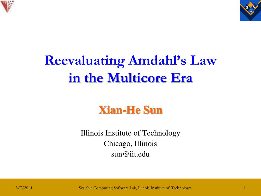 Reevaluating Amdahl's Law