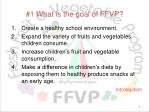 1 what is the goal of ffvp