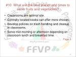 10 what are the best places and times to serve fruits and vegetables