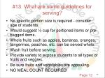 13 what are some guidelines for serving