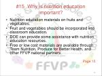 15 why is nutrition education important