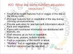 20 what are some nutrition education resources
