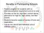 benefits to participating schools