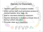 delivery to classroom
