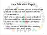 let s talk about payroll
