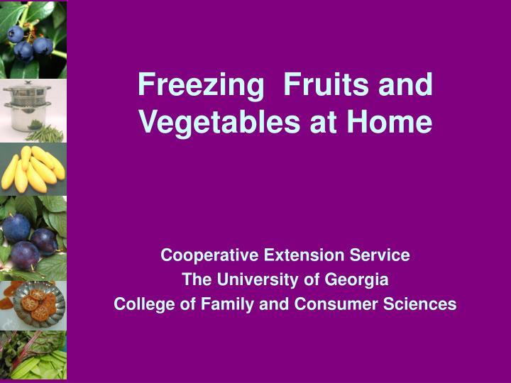 freezing fruits and vegetables at home n.