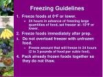 freezing guidelines